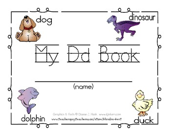 My Dd Book {letter study / sight words that & is}