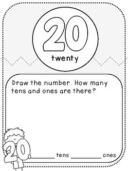 My Decade Numbers Book (First Grade, 1.NBT.2)
