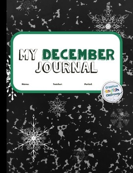 December Journal Writing Prompts with Printable Pages for Secondary ELA