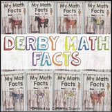 Derby Math Facts ~Multiplication Fact Intervention 3.4E 3.4F (Color Version)