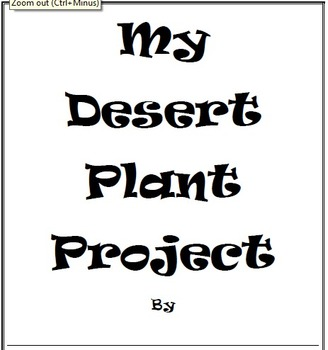 My Desert Plant Project