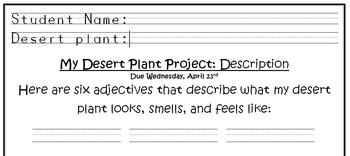 My Desert Plant Project