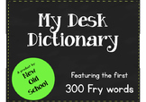 My Desk Dictionary using Fry sight words 3rd Grade
