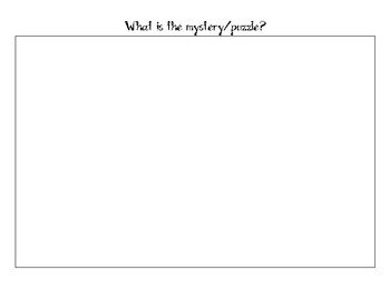 My Detective Notebook- Mystery Unit