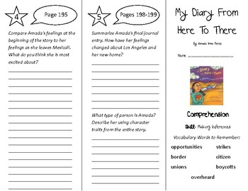 My Diary From Here To There Trifold - Treasures 4th Grade Unit 2 Week 2 (2009)