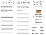 My Diary From Here to There Trifold - Open Court 4th Grade Unit 3 Lesson 5