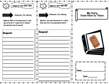 My Diary from Here to There Storytown Comprehension Trifold