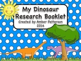 My Dinosaur Research Booklet