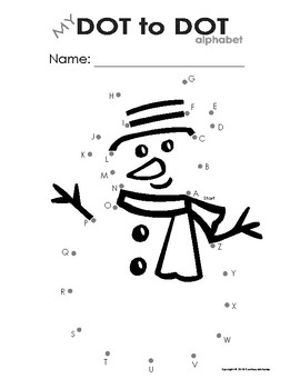 My Dot to Dot Snowman - Alphabet & Numbers Bundle pack (Winter/Christmas/Snow)