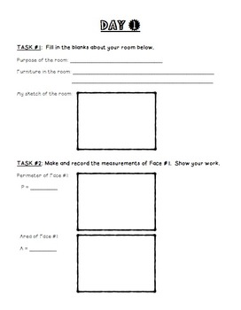 My Dream Room Area and Perimeter Project