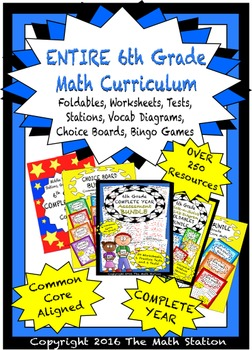 My ENTIRE 6th Grade Math Curriculum - Assessments, Notebooks, Stations, and MORE