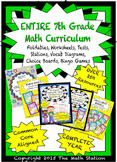 My ENTIRE 7th Grade Math Curriculum - Assessments, Notebooks, Stations, and MORE