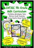 My ENTIRE 7th Grade Math Curriculum - Assessments, Noteboo