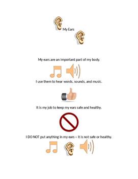 My Ears Social Story