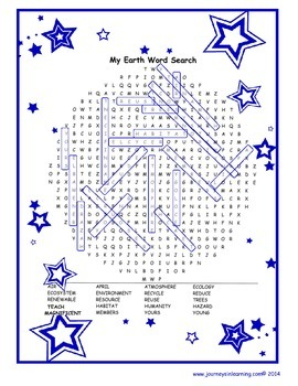 My Earth Day Word Search