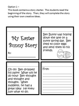 My Easter Bunny Story Creative Writing Activity