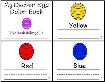 Easter Egg Color Writing Practice Mini-Book