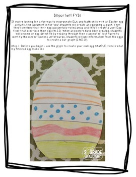 My Easter Egg Rolled Away! (Glyph, Descriptive Writing, Graphing, Visualizing)