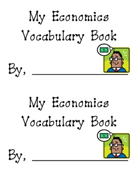 My Economics Vocabulary Book
