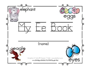 My Ee Book {letter study / sight words look, at, the}
