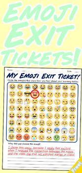 My Emoji Exit Ticket Pack!