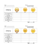 Show and Tell Rubric