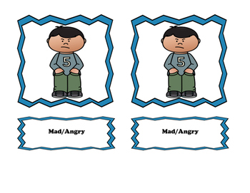 My Emotions Cards and Bingo!