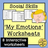My Emotions - Fill in the Blank Worksheet