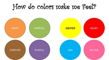 My Emotions    Learning With Colors
