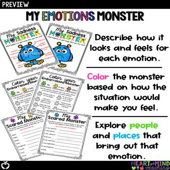My Emotions Monster Bundle