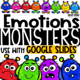 My Emotions Monster Bundle for Google Classroom Distance Learning