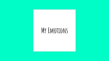 My Emotions Task Cards