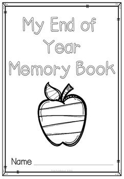 My End of Year Memory Book