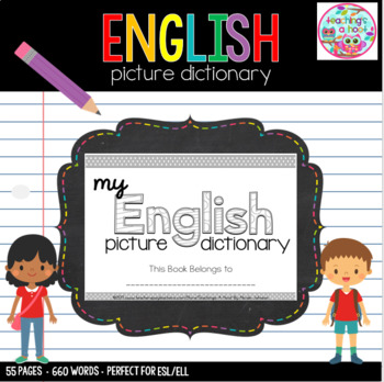 Picture Dictionary Template Teaching Resources | Teachers Pay Teachers
