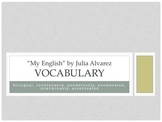 """My English"" Vocabulary Practice"