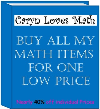 My Entire Math Store for One Price!  Free Download for Life of new material