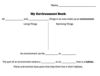 My Environment Book