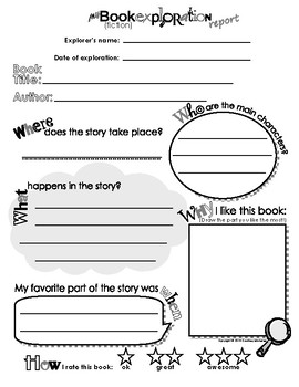 My book exploration report book report sheet for kids template my book exploration report book report sheet for kids template form pronofoot35fo Image collections
