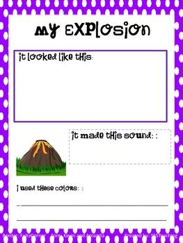 My Explosion Worksheet