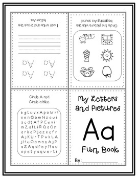 My FUN Book with Letters and Pictures A-Z Bundle