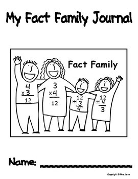 My Fact Family Journal