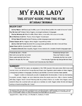 My Fair Lady: Study Guide for the Film | Distance Learning