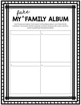 My Fake Family Language Arts Project