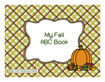 My Fall ABC Writing Book