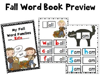 My Fall Book of Word Families