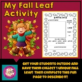 My Fall Leaf Activity