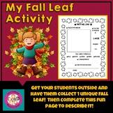My Fall Leaf Activity
