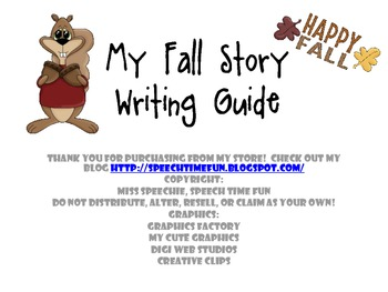 My Fall Storytelling/Writing Guide