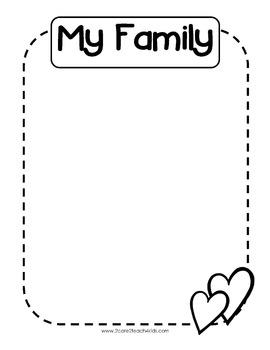 My Family- A Journal/Portfolio Page