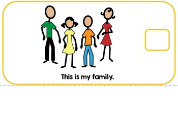My Family Adapted Interactive Book Autism, SLP, Special Education
